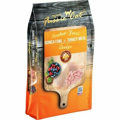 Fussie cat market fresh guinea fowl and turkey meal recipe chicken free potato and grain free fish free dry cat food for cats 10 pounds (3/20)