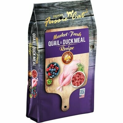 Fussie cat  Market fresh quail and duck meal recipe for cats chicken free potato and green free fish free 10 pounds (3/20)