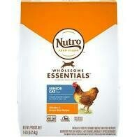 NUTRO wholesome essentials indoors senior farm raised chicken and brown rice recipe for cats 14 pounds (4/20)
