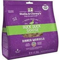 Stella & Chewy's Freeze-Dried Duck Goose Dinner Morsels Raw Cat Food 9 oz (8/19)