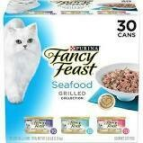 Purina fancy feast seafood Grill collection seafood feast and gravy 10 tuna feast and gravy 10 salmon and shrimp feast and gravy 10 3 ounce 30 count (5/21)