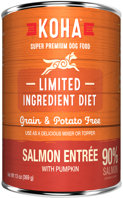 KOHA  Grain & Potato Free Limited Ingredient Diet Salmon with Pumpkin Can Dog Food 13 oz 12 count (11/20)