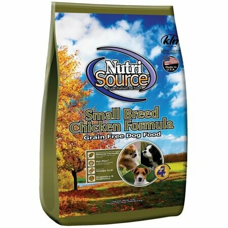 Nutri source small bites chicken and pea formula grain-free dog food 5 pounds (5/19)