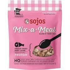 Sojo's mix of meal freeze-dried raw lamb natural dog food 8 ounces (12/19)