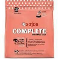Sojos complete raw made easy potato-free pork recipe for adult dogs grain-free gluten-free natural dog food with added vitamins and minerals 7 pounds freeze-dried  (11/19)