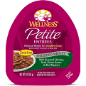Wellness Petite Entrees Natural Grain Free Wet Small Breed Dog Food 3 oz 24 count (2/19)