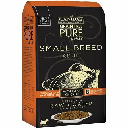Canidae grain-free pure petite small breed adult with real chicken first freeze-dried raw coated for great taste with real chicken first adult dog 4 pounds  (1/20)