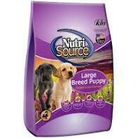 Nutri source large breed puppy chicken and rice formula 18 pounds (12/19)