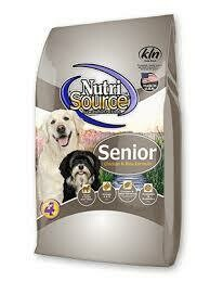 Nutri source senior chicken and rice formula for dogs 18 pounds (4/19)