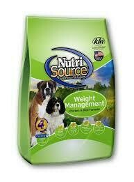 Nutri source weight management chicken and chicken meal for dogs 18 pounds (7/19)