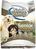 Nutro senior chicken and rice formula for dogs 30 pounds (4/19)