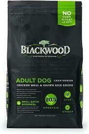 Blackwood slow-cooked pet nutrition adult dog lean/senior chicken meal and brown rice recipe no corn wheat or soy 5 pounds
