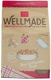Cloud Star well-made dehydrated mix grain free dog food just add water air dried beef and vegetable recipe 8 pounds bag makes 21 pounds of dog food (11/19)