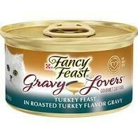 Purina fancy feast gravy lovers gourmet cat food turkey feast and roasted turkey flavored gravy 3 ounce 24 count (10/20)