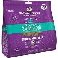 Stella & Chewy freeze-dried raw grained freed delicious salmon and cod for cats just add water 8 ounces (3/20)