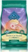 BLUE Multi-Cat Health Adult Cat Dry Food Deboned Chicken & Turkey 7 lbs (10/19)