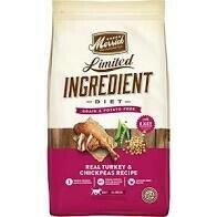 Merrick Limited ingredient diet grain-free potato-free real turkey and chickpea recipe adult dogs all breeds (8/20)