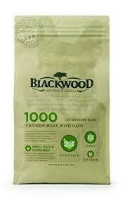 Blackwood slow cooked pet nutrition chicken meal with oats dry dog food 30 pound bag (7/19)