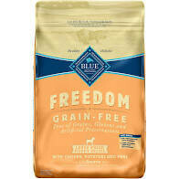 Blue Buffalo healthy holistic freedom grain free large breed puppy recipe with chicken potato and peas 24 pounds (10/20)