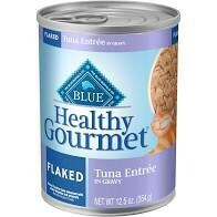 Blue Buffalo healthy gourmet flaked turkey entree and gravy for cats 12.5 ounces 12 count (3/20)