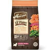 Merrick lil plates grain free real salmon plus sweet potato recipe poultry free all life stages for small breeds 20 pounds (2/20)