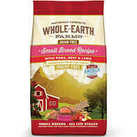 Merrick whole earth farms grain free small breed recipe with pork beef and lamb all life stages 4 pounds (10/19)
