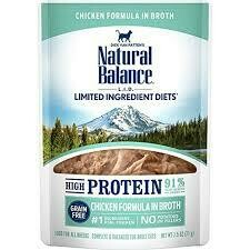 Natural balance limited ingredient diet high protein grain free wet cat food chicken formula in broth for all breeds adult cats 2.5 ounces 24 count (10/19)