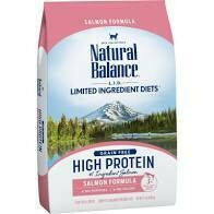 Natural balance limited ingredient diets grain free high protein salmon formula dry cat food complete balance for adult cats 11 pounds (2/20)