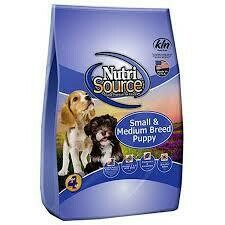 NutriSource super premium pet foods small and medium breed puppy chicken and brown rice 18 pounds (12/19)
