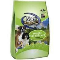 NutriSource super premium pet food weight management chicken and chicken meal formula for dogs 30 pounds (2/20)