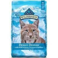 Blue Buffalo Wilderness Denali Dinner with Wild Salmon, Venison & Halibut Grain-Free Dry Cat Food 10 lbs (3/20)