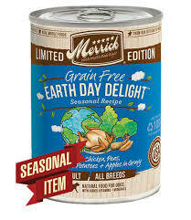 Merrick Pet Food Earth Day Delight Wet Dog Food  12.7 oz 12 count (11/19) (B.)