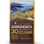 ADIRONDACK PET FOOD 30% PROTEIN HIGH-FAT RECEPE FOR PUPPY & PERFORMANCE DOGS 15 LBS (7/19)