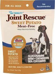 Ark naturals joint rescue Sweet potato meat free glucosamine MSM chondrotin sea mobility sweet potato treats 9 ounces (6/19)