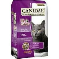 CANIDAE LIFE STAGES INDOOR FORMULA ADULT DRY CAT FOOD 4 LBS (3/19)