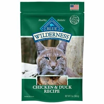 Blue Buffalo Wilderness cat treats chicken and dust duck recipe 2 ounces (3/20)