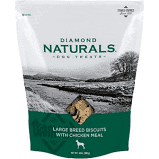 DIAMOND NATURALS LARGE BREED BISCUITS CHICKEN MEAL DOG TREATS 24 OZ (4/20)