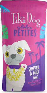 Tiki aloha petite chicken and duck plus chicken liver heart and gizzards 12 count 3.5 ounce pouches (1/20)