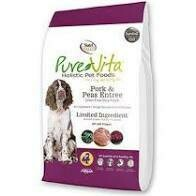 NutriSource PureVita Grain-Free Limited Ingredient Pork & Peas Recipe Dry Dog Food 15 lbs (12/19)