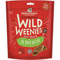 Stella and to ease freeze-dried raw wild weenies dog treats grain free cage free duck recipe 3.25 ounces (10/19)