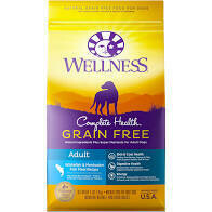 Wellness Grain-Free Complete Health Adult Whitefish & Menhaden Fish Meal Recipe Dry Dog Food 4 LBS (1/20)