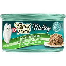 Purina fancy feast medleys tuna florentine with garden greens in a delicate sauce 3 ounce 1 COUNT (6/21)