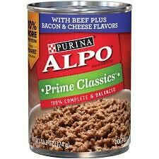 Purina Alpo beef plus bacon and cheese flavors 13.2 ounce 1 COUNT (4/18)