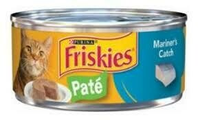 Purina Friskies pate Mariners cat wet cat food for adult cats and kittens 5.5 ounces 1 COUNT (12/19)