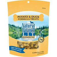 NATURAL BALANCE L.I.T. POTATO & DUCK DOG TREATS, REGULAR 14 OZ BAG (3/20)