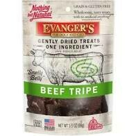 Evanger's for dogs cats and ferrets gently dried treats one ingredient hand-cut beef tripe 3.5 ounces (12/19)