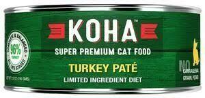 Koha Canned Cat Food Turkey Pate 5.5 oz 24 pack (2/21)
