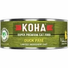 Koha Cat Grain-Free 96% Duck Wet Cat Food 5.5 oz 24 count (8/20)