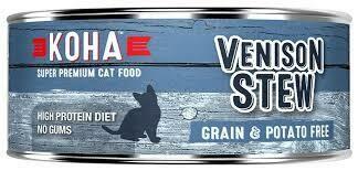 Koha Venison Stew Grain & Potato Free Wet Cat Food 5.5 oz 24 count (7/19)