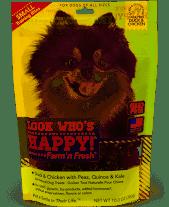 Look who's Happy! Farm'n Fresh Grain-Free  Duck with Peas, Quinoa, Kale Short 10 oz (8/19)